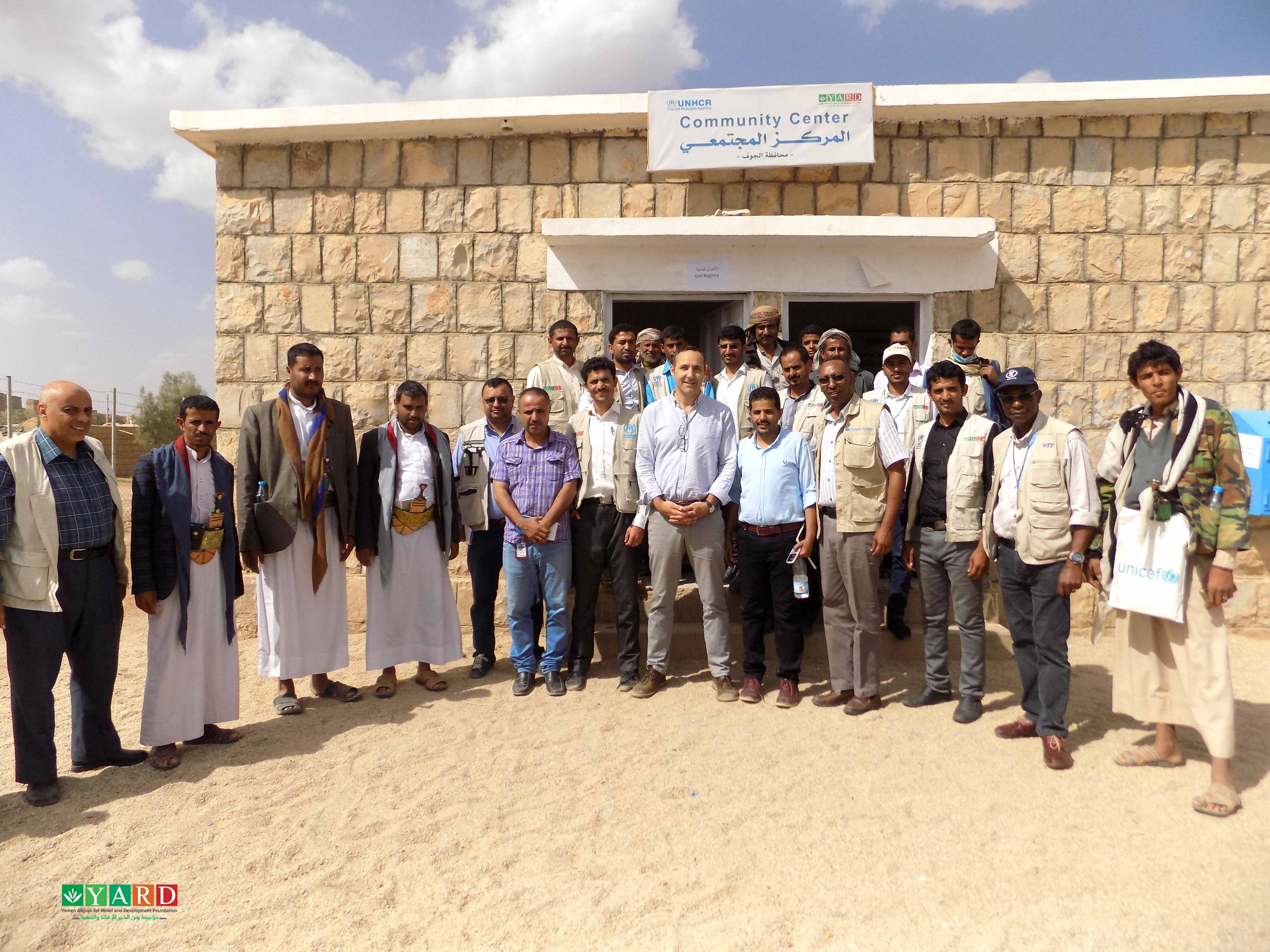 Mr. Sebastian's and Mr. John's Visit to YARD Branch Office in Al-Jawf Governorate