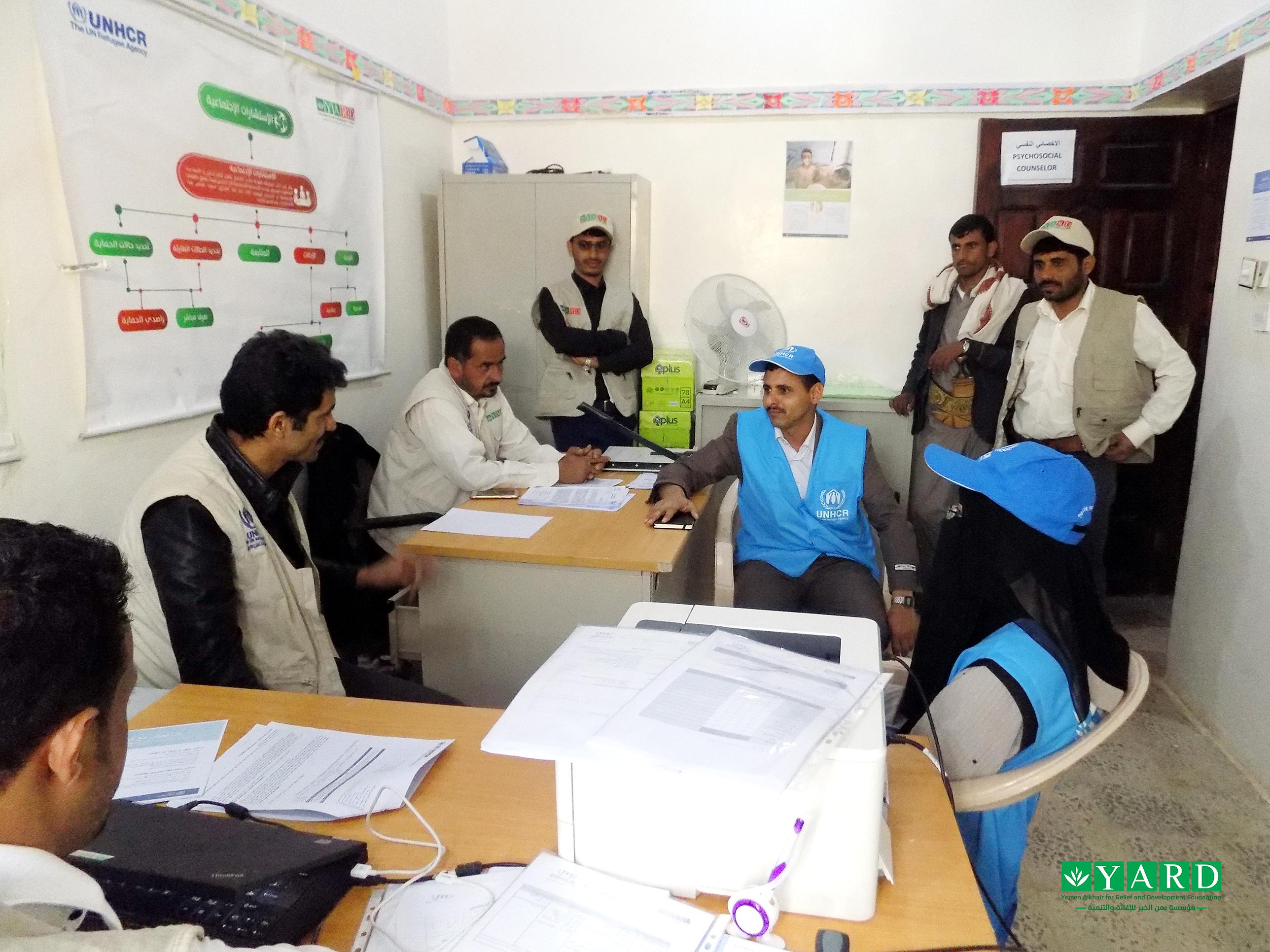 UNHCR Team Pays a Monitoring Visit to IDPs CC in Al-Marashi District – Al-Jawf Gov