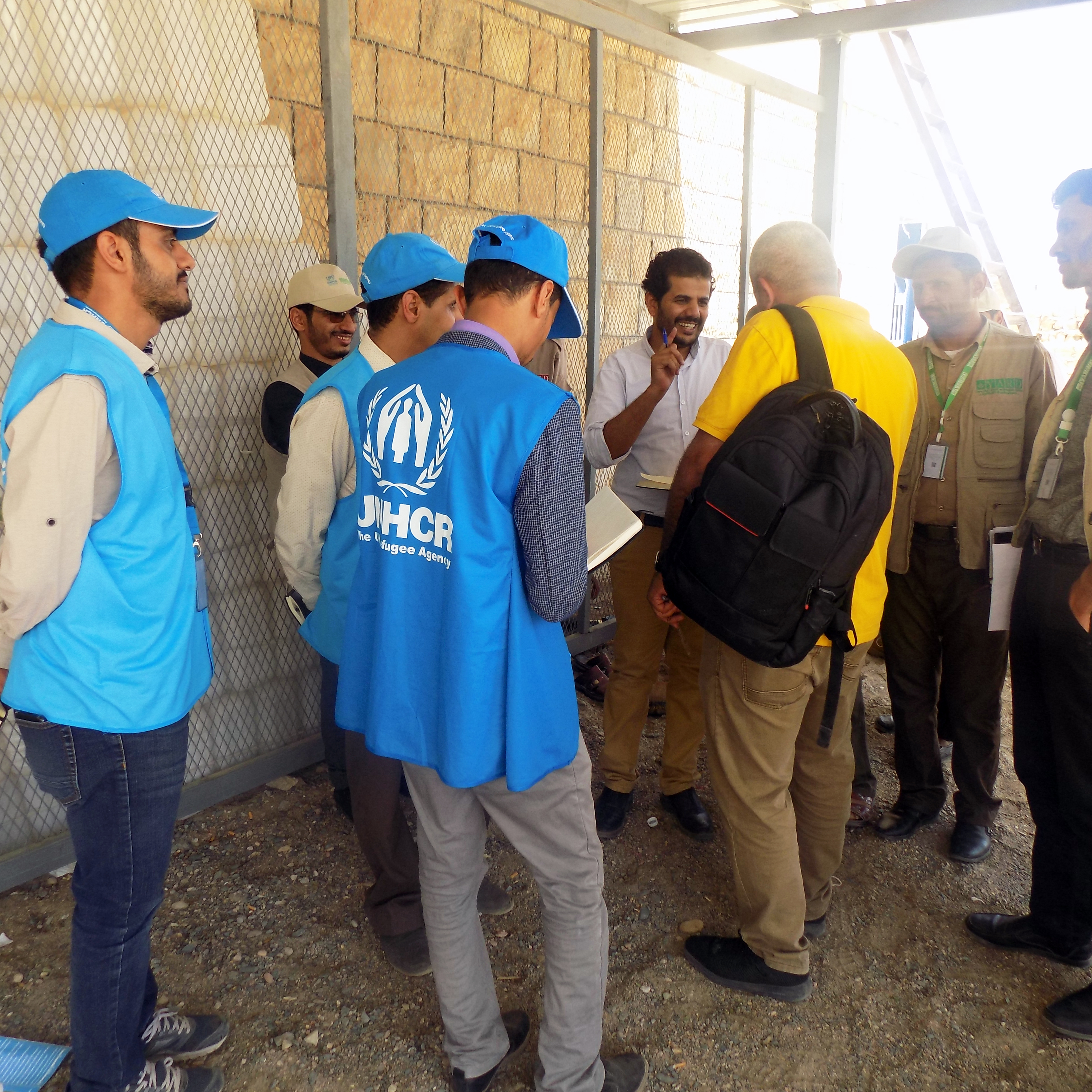 Inspection Visit by UNHCR Acting Manger to YARD's IDPs CC