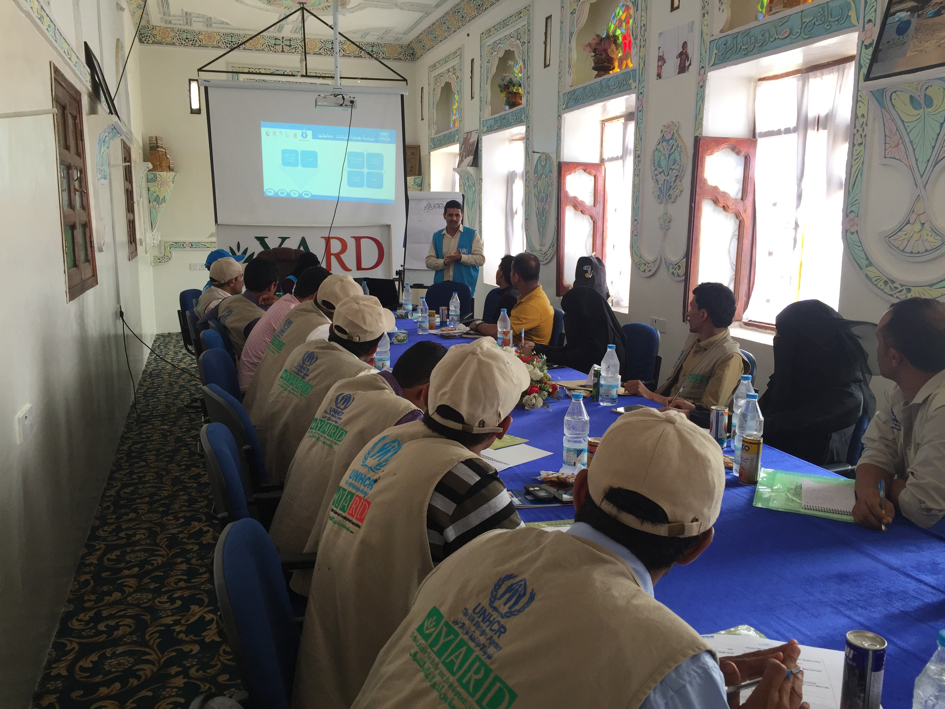 UNHCR holds a training for the Protection Team of YARD