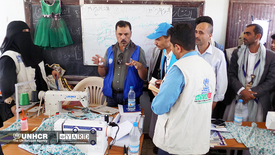 The UNHCR Delegation Visit during the Inauguration of Quick Impact Projects (QIPs) under the IDPs Community Center Activities: