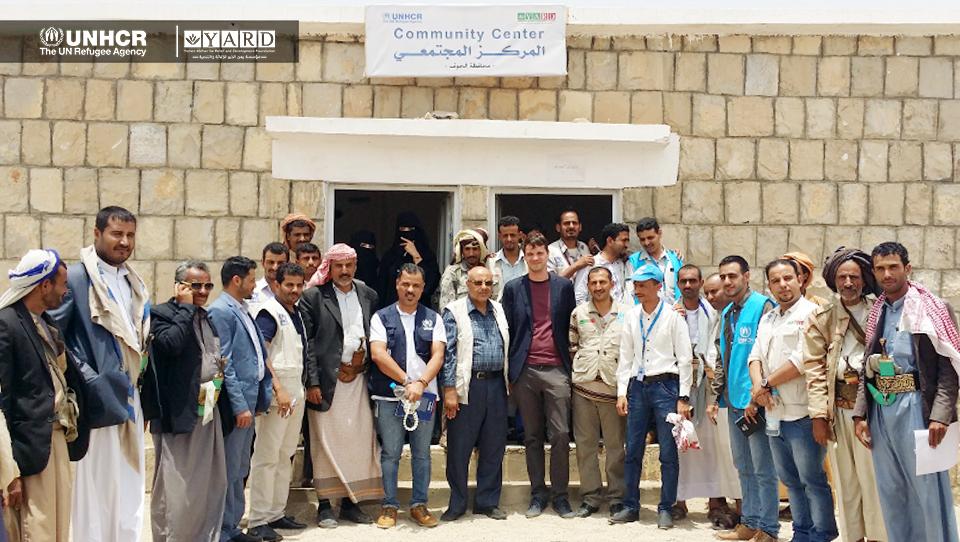 The UNHCR Head of Program – Sana'a Office along with the Head of UNHCR Sub-Office in Sa