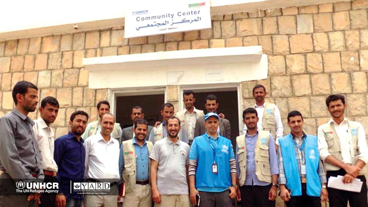 YARD Inaugurates the IDPs Community Center in Kharab Al-Marashi District in Al-Jawf Governorate: