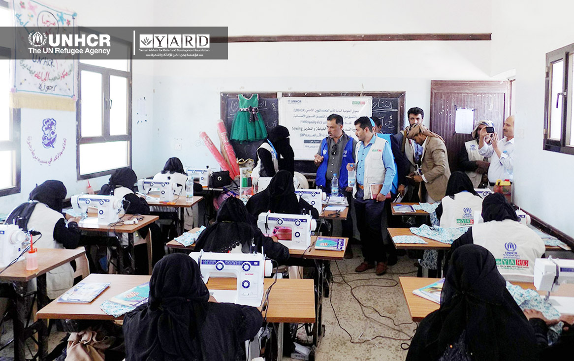 UNHCR's Visit to the Training on Sewing and Embroidering in Rajuzah District