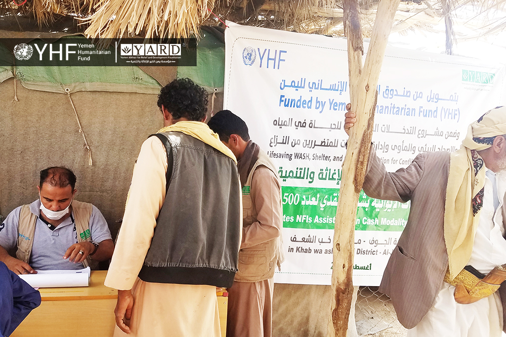 YARD Implements the Activity of Distributing NFIs in Cash Modality to the IDPs and Affected Communities in Khab wa ash Sha'af District, Al-Jawf Gov