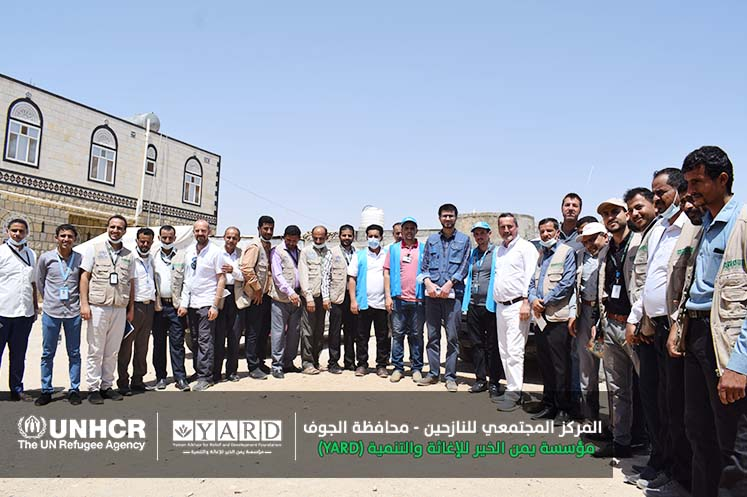 Deputy Representative of UNHCR in Yemen Visits IDPs' CC in Al Marashi District, Al Jawf Gov.