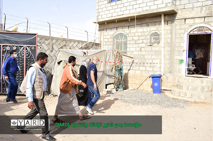Coordination Team of United Nations Office for the Coordination of Humanitarian Affairs/ Yemen Humanitarian Fund (OCHA/YHF) on an inspection visit to Al-Hazm district of Al-Jawf governorate.