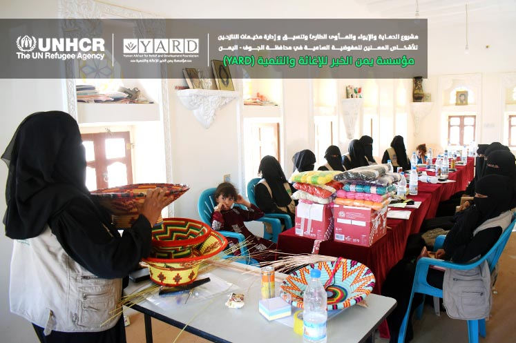 YARD and SCMCHA Representative of Al-Khalaq District Inaugurate the Training Course to Empower Women with Income-Generating Handicrafts